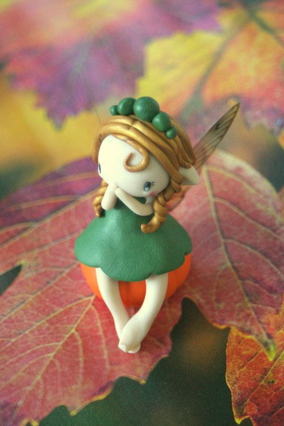 Hey, I found this really awesome Etsy listing at https://www.etsy.com/listing/247034439/pumpkin-fairy-figurine  Fall fairy