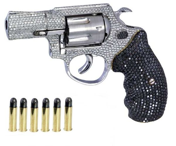 rhinestone gun.... <3 wish it came in pink like this not all pink but has pink!!