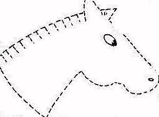 cavalinho de feltro