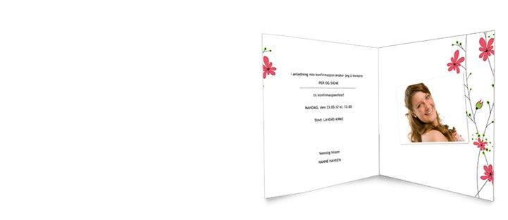 Invitasjon konfirmasjon, 15x15 cm dobbelt - Konfirmasjon - Invitasjoner - Kort - www.fotoknudsen.no