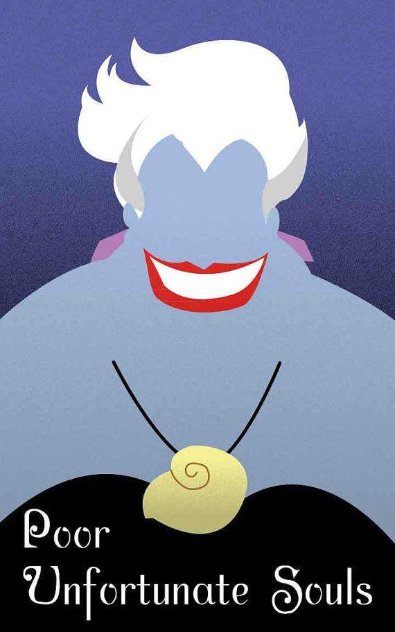 Ursula The Little Mermaid / Disney Villains by FADEGrafix on Etsy