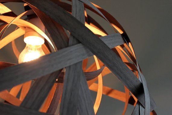 Lamp WALNUT XL Lighting Design Wood Pendant by concreteedesign
