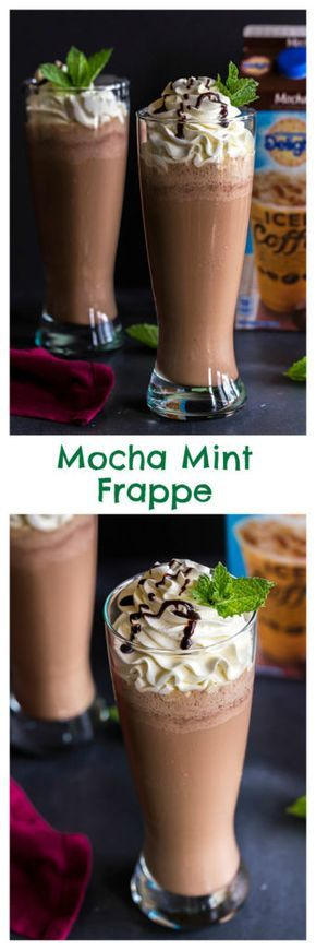 Iced Mocha Mint Frappe is the perfect drink to cool down on a hot summer day! Find the recipe on www.cookwithmanali.com