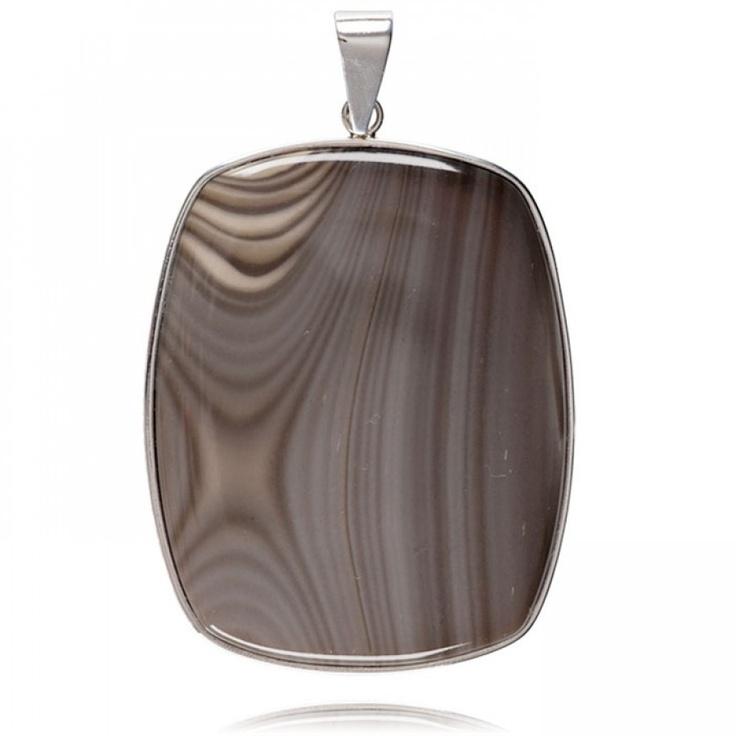 striped flint pendant