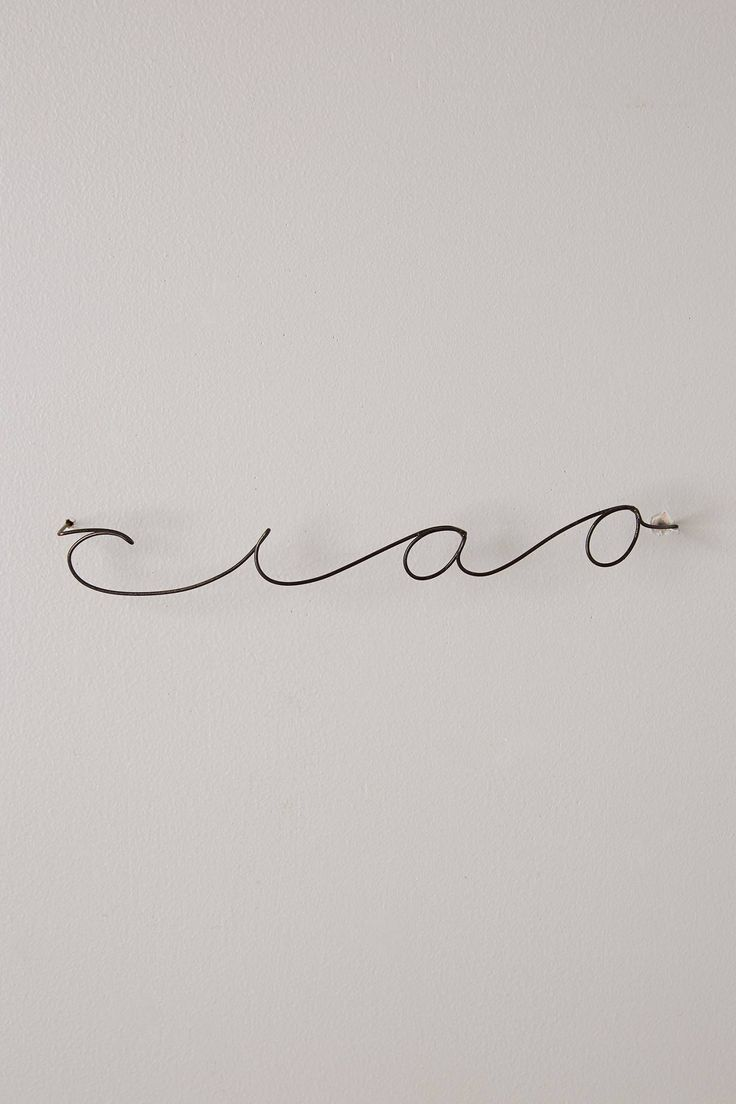 Wire Script Sculpture - anthropologie.com