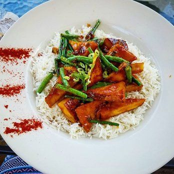 Gypsy Cafe - Lincoln, NH, United States. Kung Pao Tofu (without peanuts)