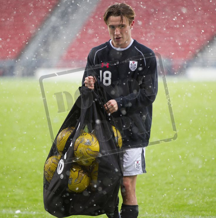 Queen's Park's Grant Brennan collecting the balls before the SPFL League Two game between Queen's Park and Montrose