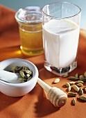 Cardamom milk ... good to regulate hormones :)