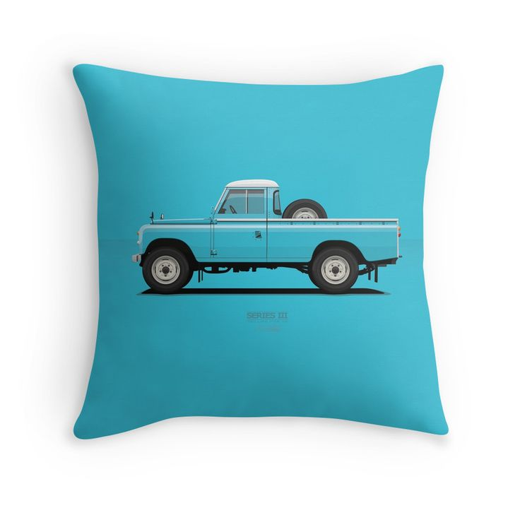 Series 3 PickUp 109 Blue Sky  #redbubble #landrover #landy #landroverseries #series3 #landroverpickup #ARVwerks #apparel #merchandise #carart #art #automotive #british #pickup #pickuptruck #landrover109 #throwpillow