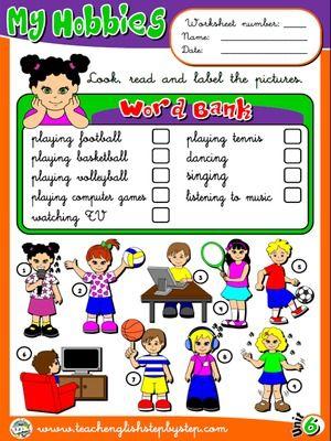 Hobbies - Worksheet 1