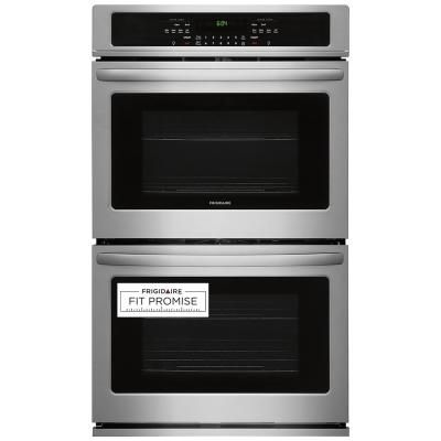 Total Capacity Electric Double Wall 4 Oven Racks Self-cleaning Convection Fan Touch Control in Stainless Steel Black ft Empava 30 in 10 cu 30 Inch