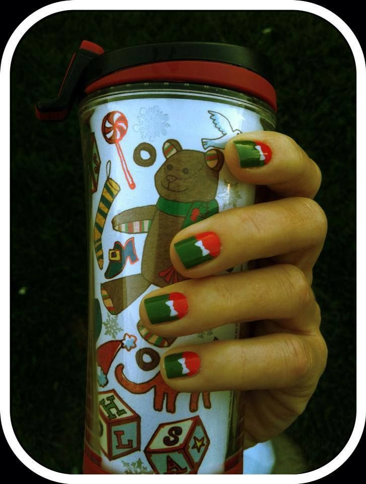 """Wrapped Up"" Jamberry Nails  #Christmas #DIYnails"