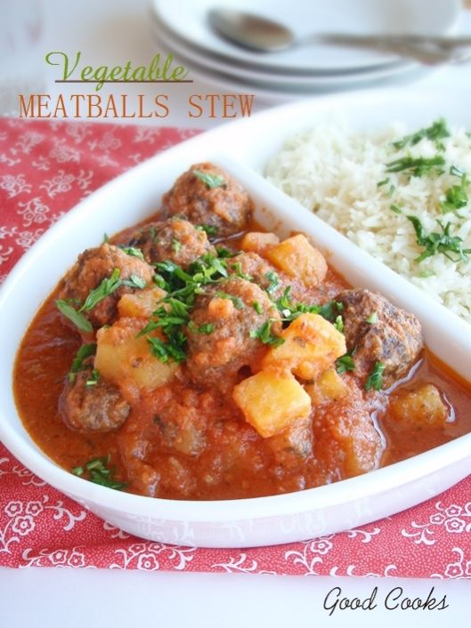 Tagine of Meatballs in Tomato Sauce http://goodcooks.wordpress.com/2013/03/19/tagine-of-meatballs-in-tomato-sauce/