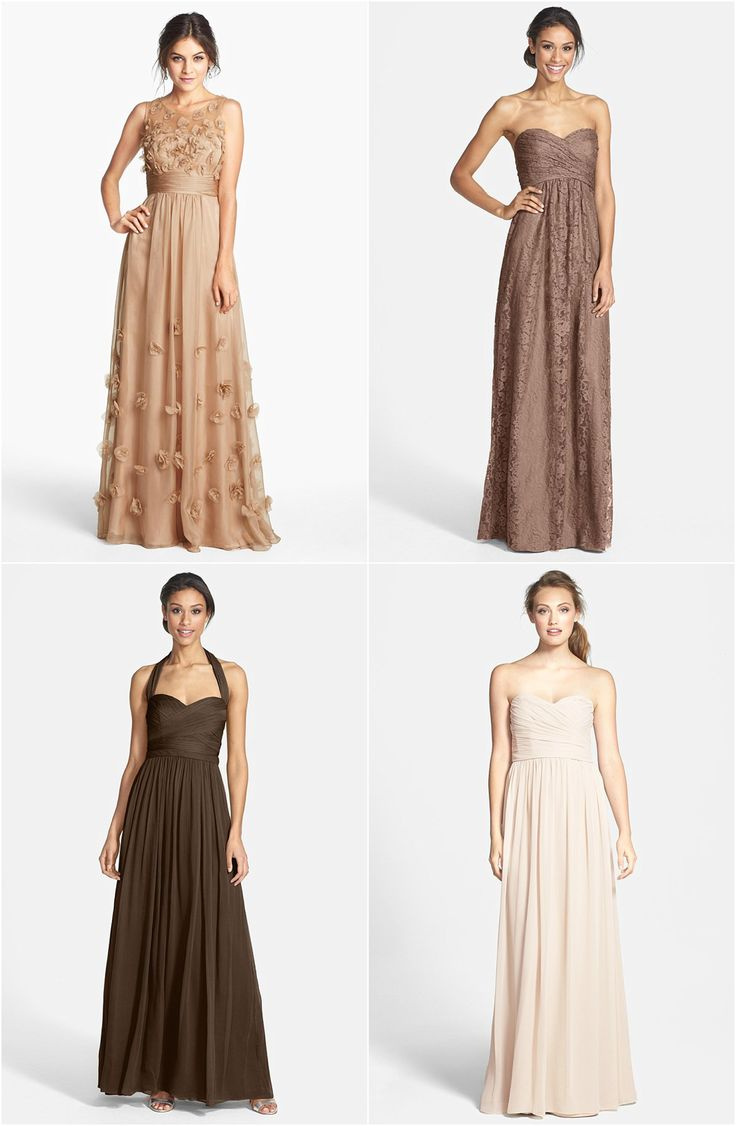 Best 25 brown bridesmaid dresses ideas on pinterest brown mismatched brown bridesmaid dresses this is a great look for fall click to see ombrellifo Gallery