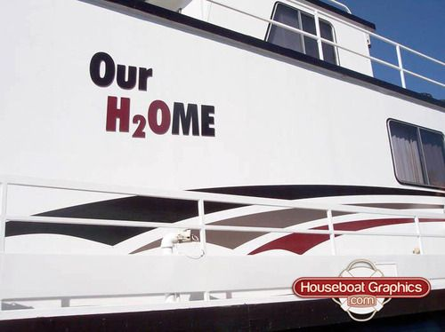 Best Striping Decals For Your Boat Or Houseboat Images On - Houseboats graphics