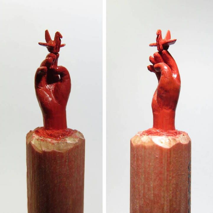 Best Pencil Carving Images On Pinterest Pencil Carving - Artist carves miniature pop culture sculptures into pencils
