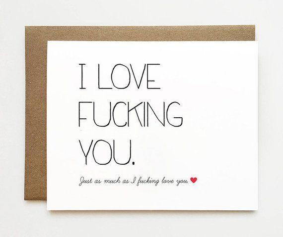 Naughty I Love You Card Boyfriend Anniversary Card Cheeky Anniversary Card Husband Anniversary Card Dirty I Love You Card for Her