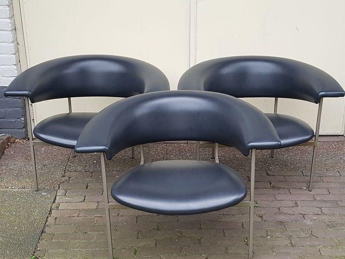 Rudolf Wolf voor Gaasbeek en Van Tiel - set van 3 'Gamma' fauteuils uit de Meander serie - 1963