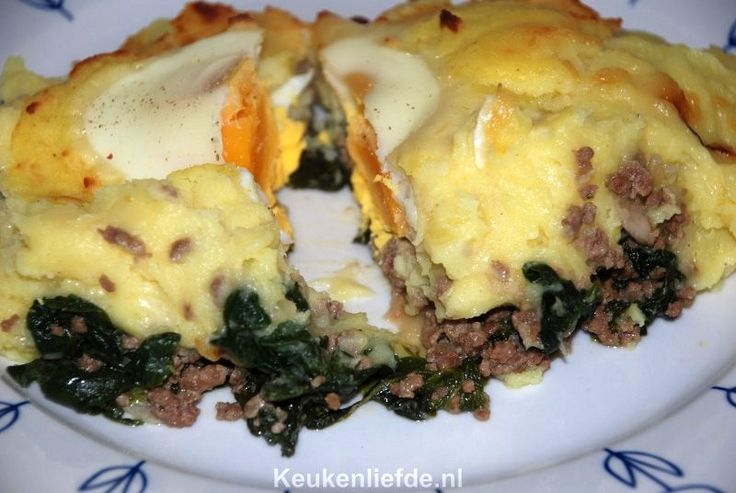 Spinazie ovenschotel met gehakt en ei - Keuken♥Liefde