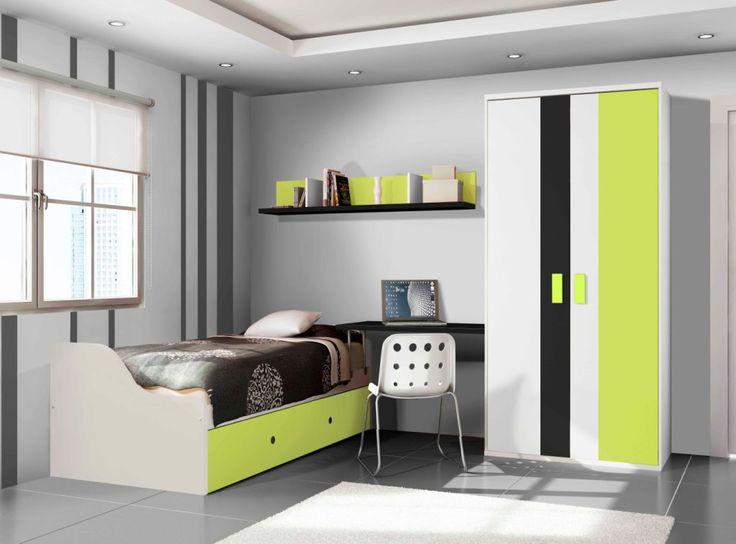 Dormitorios juveniles de madera coleccion couleur 250 for Dormitorios juveniles de madera