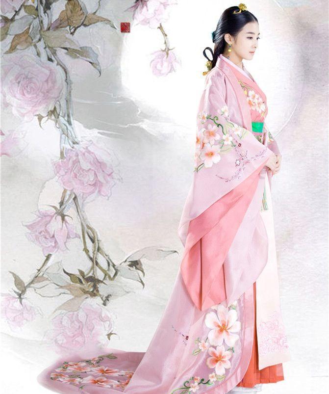 Chinese dress - Hanfu.  #pink