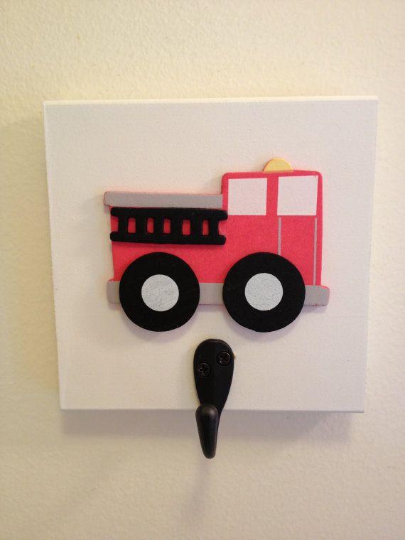 Boys Bedroom Fire Truck Theme Single Wall by Sugarspiceallthnice, $14.99 for boys bath