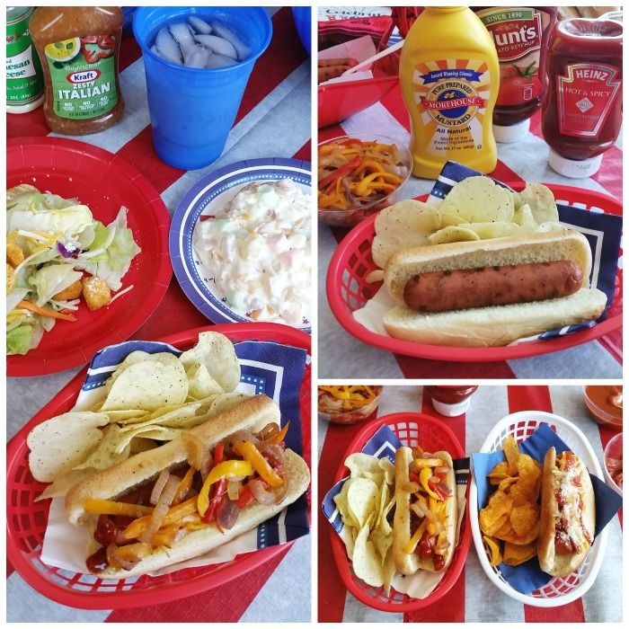 Throw a budget-friendly July 4th party with this self-serve hot dog party! You can find everything you need at the 99 Cents Only Stores! #99YourFourth
