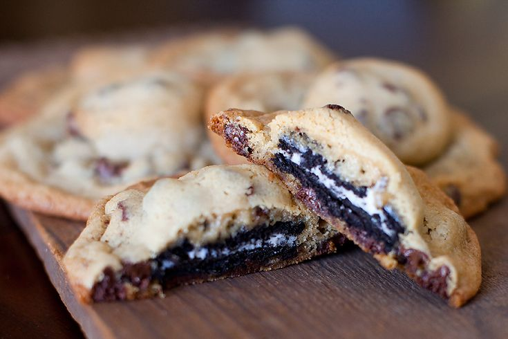 Oreo Stuffed Chocolate Chip Cookies [In the Kitchen]