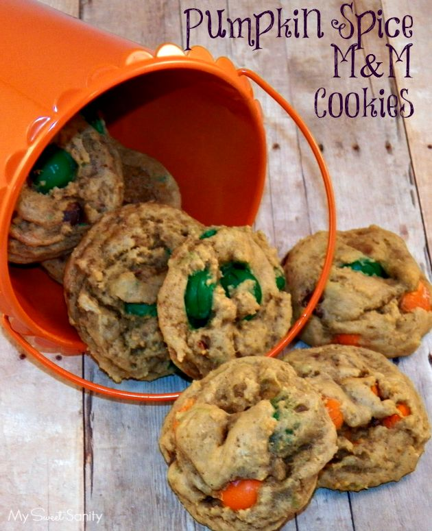 Pumpkin Spice M&M Cookies