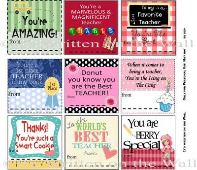 teacher appreciation printables    itswrittenonthewalls.blogspot.com