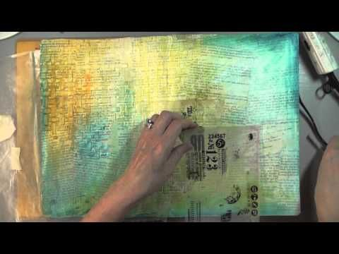 Cool video of an art journal page using Gelatos, gesso, and dimensional paints. ***