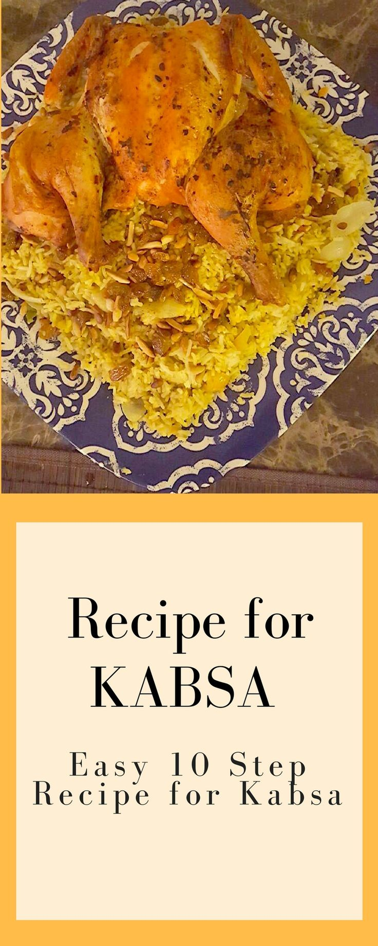 Arabic Food Recipe, Wow your family and your guests with this easy 10 step Arab Food Recipe for Kabsa - Chicken and Rice Dish (scheduled via http://www.tailwindapp.com?utm_source=pinterest&utm_medium=twpin&utm_content=post183238175&utm_campaign=scheduler_attribution)