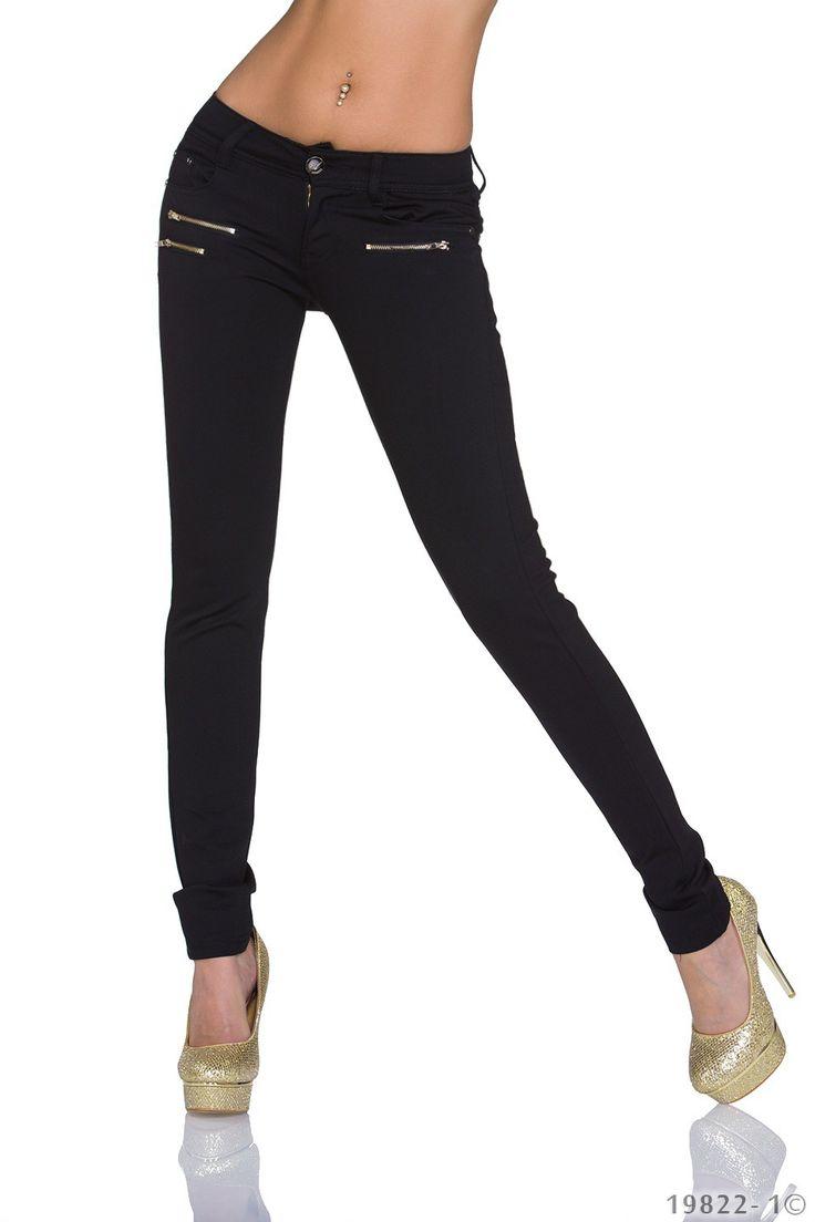 Pantaloni Black Traveler   New Fashion Romania  >> Click pe poza pentru a vedea pretul. #PantaloniDama