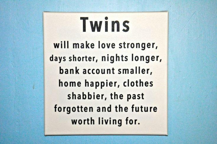 Twins Wall Art Canvas - Nights shorter