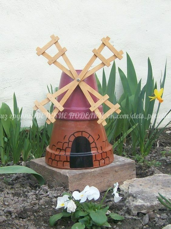 Clay Pot Windmill