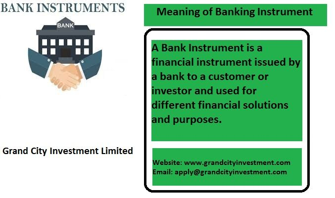What Is Bank Instrument Bank Instrument Financial Instrument Investing