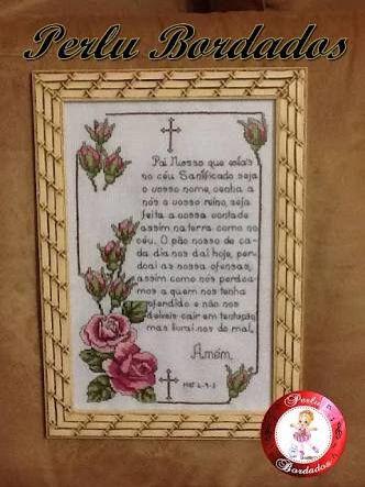 Quadro com Oração do Pai Nosso