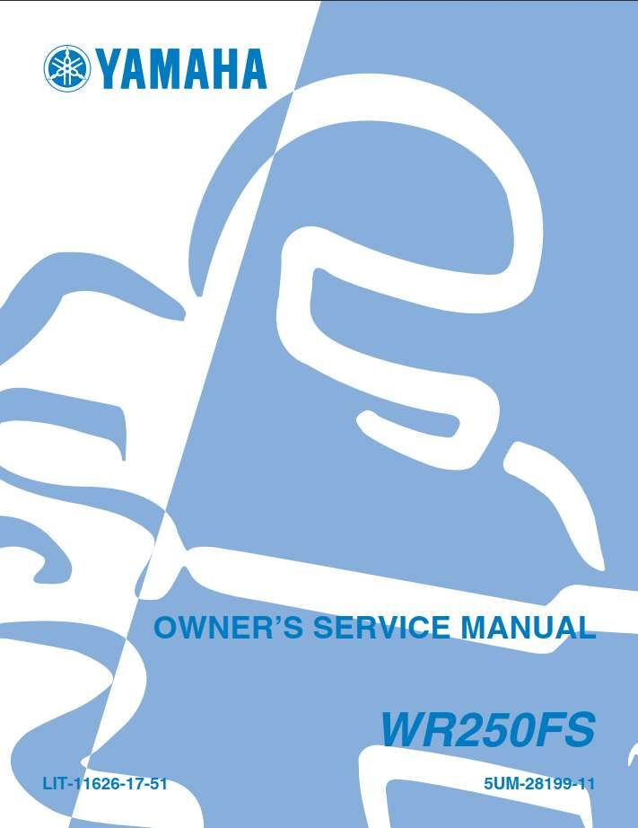 Yamaha Wr250 Fs 2004 Owner S Manual Yamaha Manual Owners Manuals