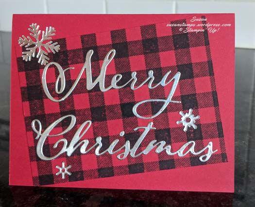 Frohe Weihnachten Thinlits, Stampin Up, susanstamps.wordp …   – Susan Stamps