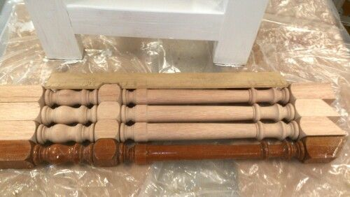 Baluster matching turned by hand