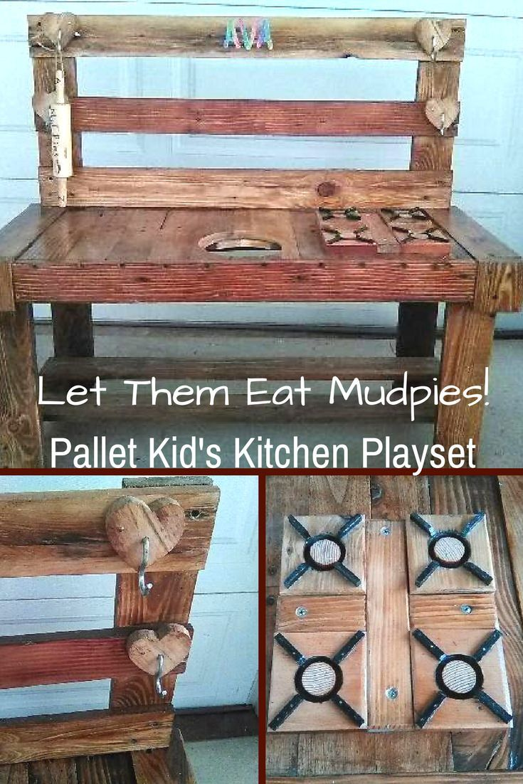Build a pallet kids play kitchen set for my little guys pinterest mudpie kitchen sets and pallets