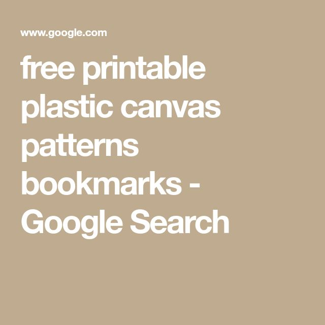free printable plastic canvas patterns bookmarks - Google Search