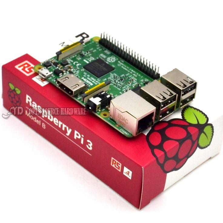 2016 Baru Asli Raspberry Pi 3 Model B Papan 1 GB LPDDR2 BCM2837 Quad-Core Ras PI3 B, Ras PI 3B, Ras PI 3 B dengan WiFi & Bluetooth