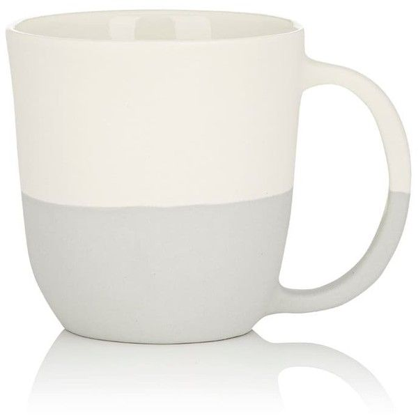 Sarah Cihat Colorblocked Mug (1 590 UAH) ❤ liked on Polyvore featuring home, kitchen & dining, drinkware, grey, handcrafted mugs, handmade mugs, grey mugs and porcelain mugs