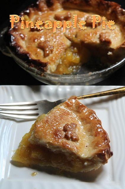 YUMMY TUMMY: Easy Pineapple Pie Recipe