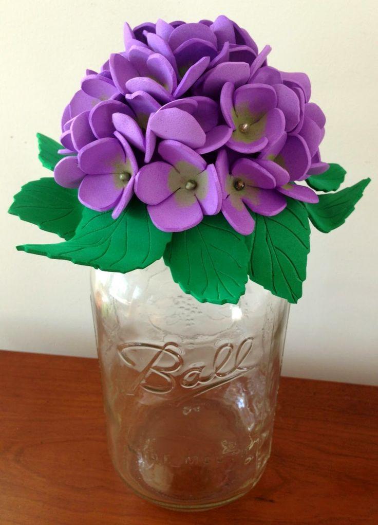 Purple Hues and Me: Mason Jar Foam Flowers Decorative Tops DIY