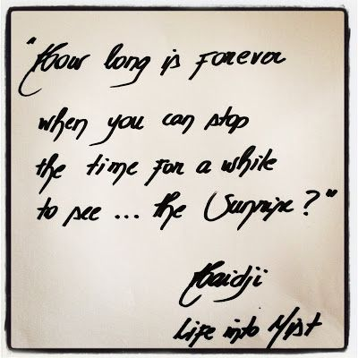Haidji: Forever - Book Quote - Life into Mist - Haidji