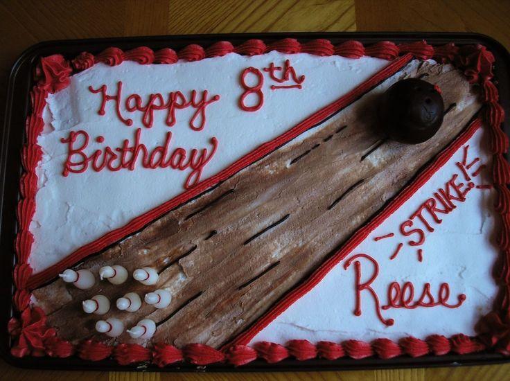 Bowling Birthday Cake cakepins.com More
