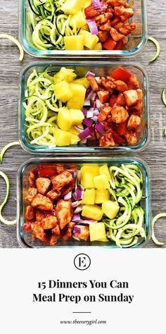 15 Dinners You Can Meal Prep on Sunday | The Everygirl
