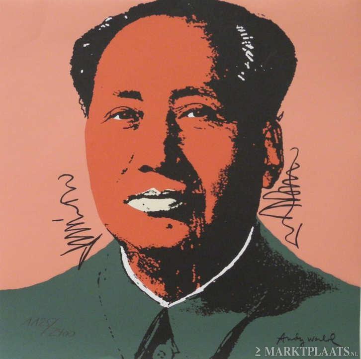 Marktplaats.nl > Andy Warhol+Mao Tse-Tung +Green Coat+Genum + Stempel+Gesign - Antiek en Kunst - Kunst   Litho's en Zeefdrukken